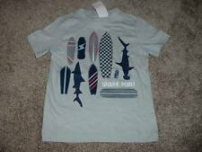 Gymboree Shark Point Shirt Size 4 Kids Boys Gray Top Clothes NWT NEW Surf Summer