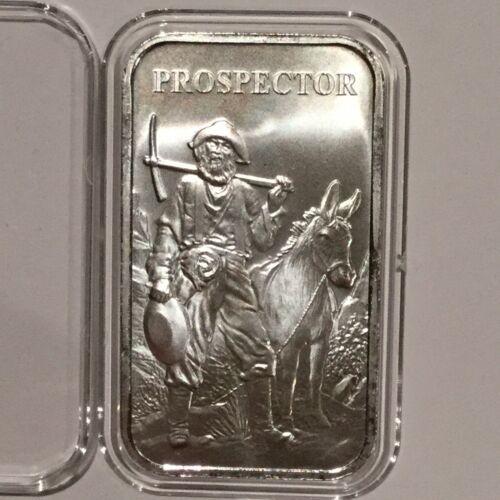 Prospector /& Donkey Collectible Bar 1 Troy Oz .999 Fine Silver Ingot Medal