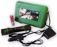 200w 3.7v Camouflage Swat Led Flashlight High Power Rechargeable Protection
