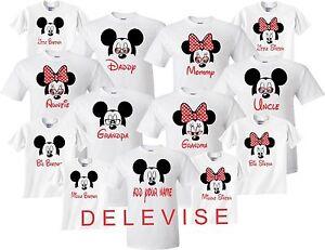 Mickey-amp-Minnie-MOM-DAD-FAMILY-VACATION-BIRTHDAY-Matching-cute-T-Shirts