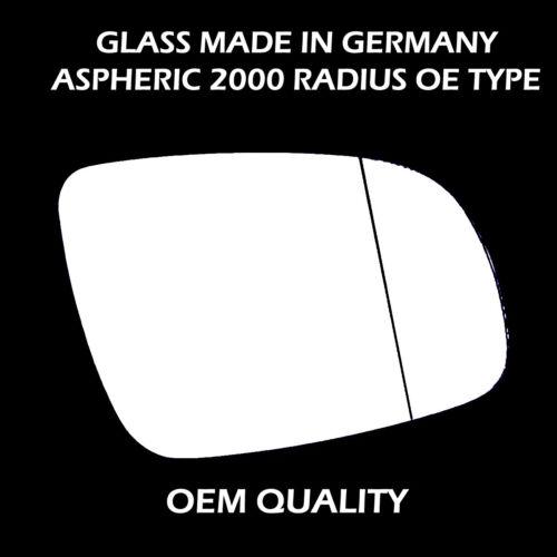 1999-2005 Volkswagen lupo porte aile miroir verre de remplacement-côté droit