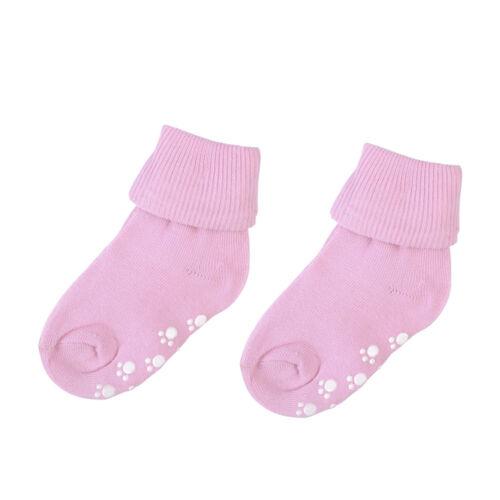 1 Pair Baby Boy Girls Candy Colour Cotton Non-slip Socks Kids Soft Socks Sock