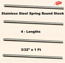 Stainless Steel Spring Round Stock 4 Lengths 332 X 1 Ft 302 Alloy Rods