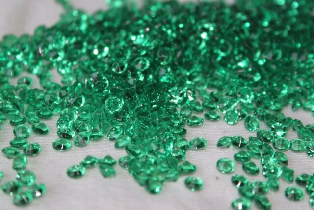 5000 x GREEN 4.5MM WEDDING DAY DIAMOND CONFETTI TABLE DECORATION UK SELLER