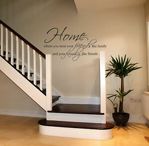 Image Is Loading Home Wall Art Sticker Lounge Hallway Living Room
