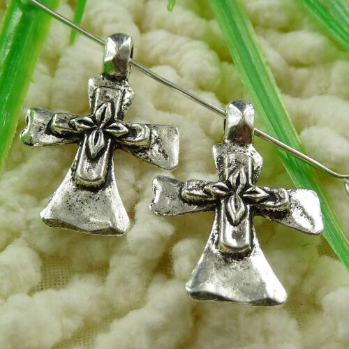 Free Ship 150 pcs tibetan silver cross charms 26x18mm #1444
