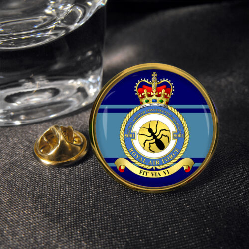 ® Pin Badge Airfield Construction Squadron Royal Air Force No 5001 RAF Light