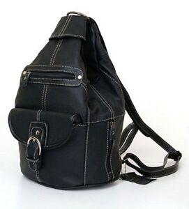 Womens-Leather-Backpack-Purse-Sling-Shoulder-Bag-Handbag-3-in-1-Convertible-New
