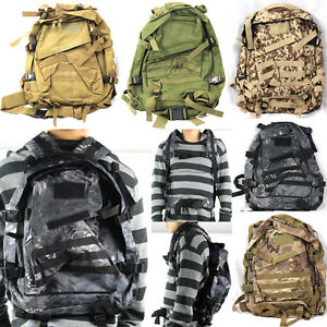 1dbc2394a3 Image is loading 40L-3D-Outdoor-Military-Tactical-Backpack-Rucksack -Trekking-