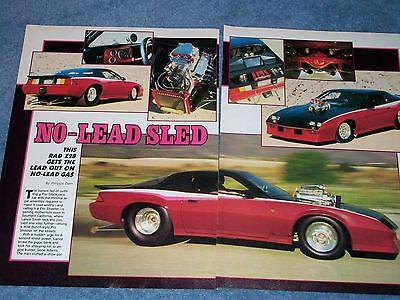 """1986 Camaro Z/28 Blown Pro Street Vintage Artikel """" No-lead Schlitten Zoll Hell Und Durchscheinend Im Aussehen"""