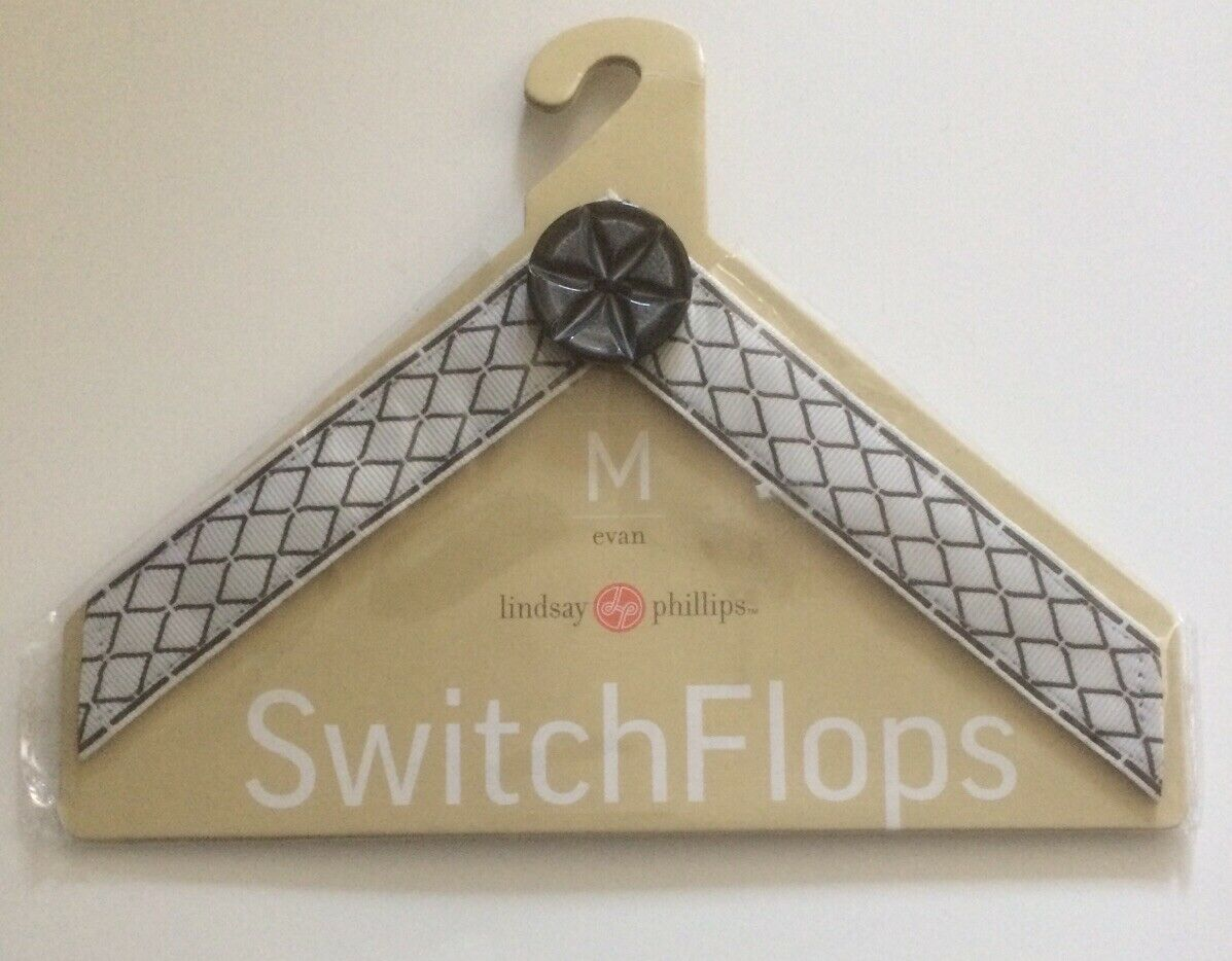 Lindsay Phillips Switchflops Straps Evan Medium(7/8). NEW WITHOUT TAGS