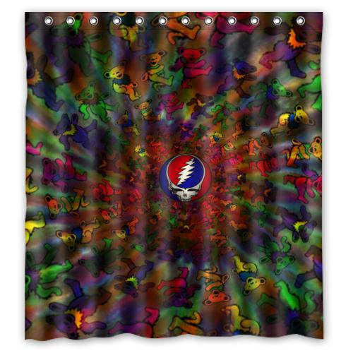 New Special Offer Custom Grateful Dead Bath Waterproof 66x72 inch Shower Curtain