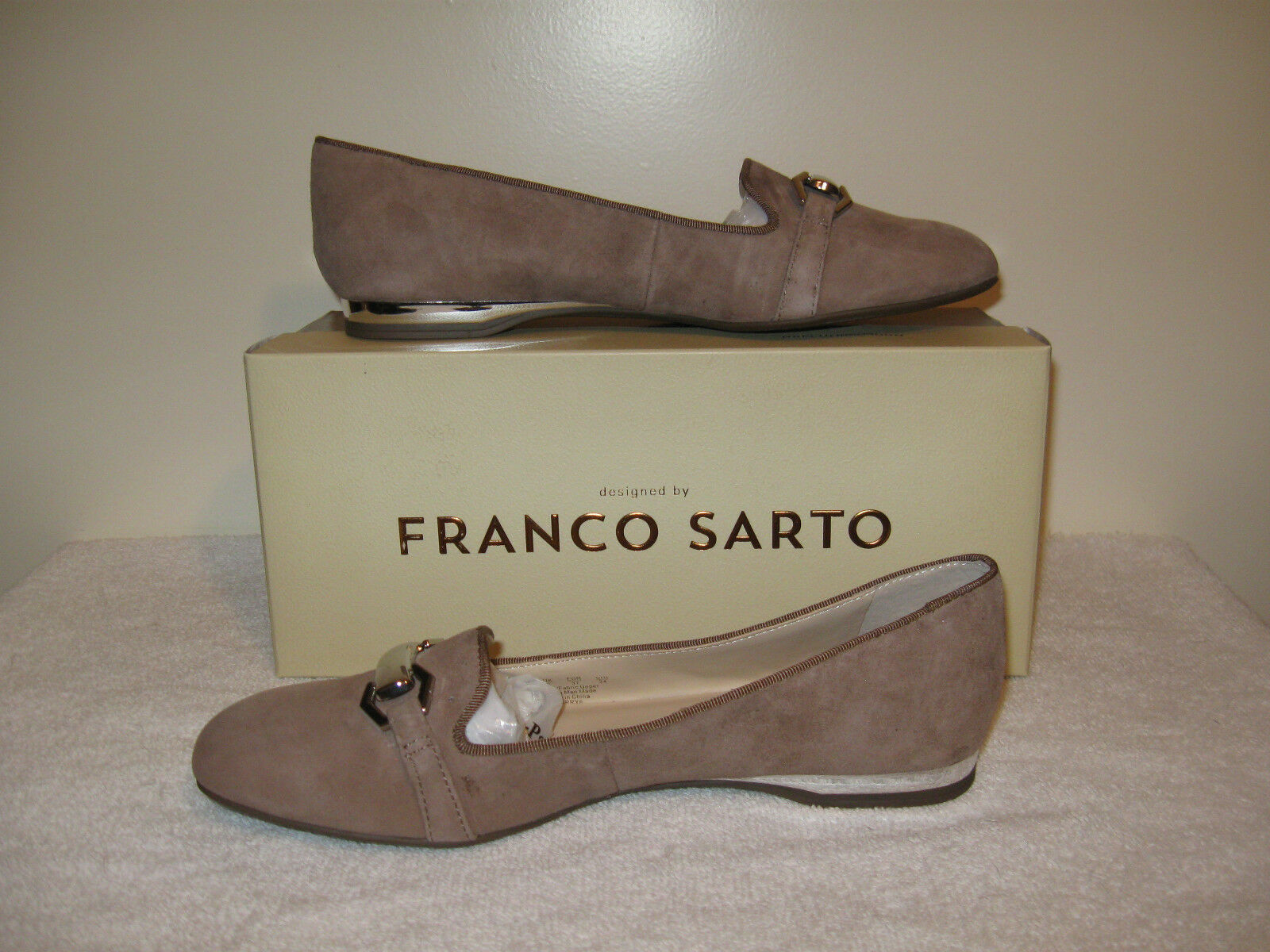 Franco Sarto Gerry Loafer Flat Womens NIB Mushroom Beige 6M MSRP