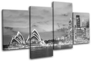 Sydney-Skyline-Harbour-Opera-House-City-MULTI-CANVAS-WALL-ART-Picture-Print