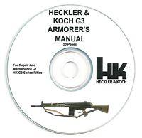 Heckler & Koch Hk G3 Repair And Maintenance Armorers Manual - See Description