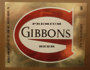 OLD-USA-BEER-LABEL-LION-BREWERY-WILKES-BARRE-PENNSYLVANIA-GIBBONS-12-Oz-3