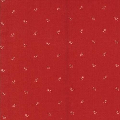 Moda Tissu Ann Arbor bourgeons rouge par 1//4 mètre
