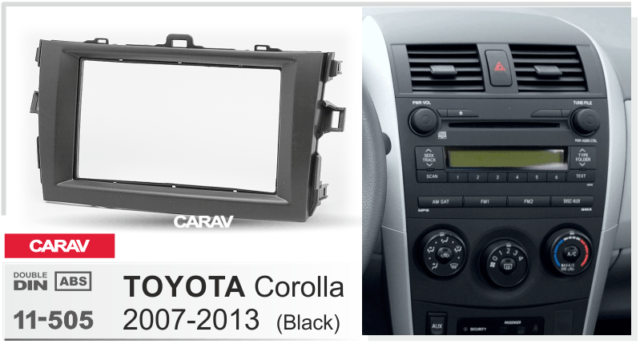 Carav 11505 Car 2din Fascia Panel Frame Trim Install Kit For Toyota Rhebay: 2007 2008 2009 2010 2011 Honda Element Dash Kit Double Din For Radio At Gmaili.net