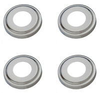 4) Swimline 87904 Replacement Ladder Stainless Steel Escutcheon Plates In-ground