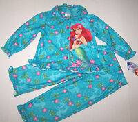 Disney Ariel The Little Mermaid Pajamas Sleepwear Teal Shells Cute Girl