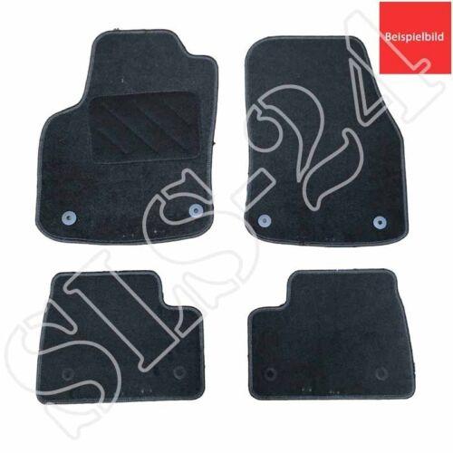 Passform Autoteppich Komplettset 4-teilig für Skoda Fabia III ab 2014 schwarz