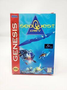 seaQuest DSV (Sega Genesis, 1994) Complete CIB black and white manual Authentic