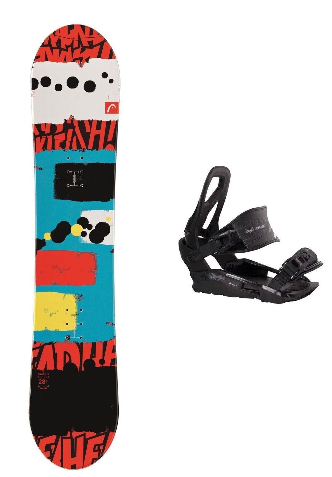HEAD Rowdy JR 128 Snowboard Set inkl. Bindung Kinder Kid Junior Grom Board Set
