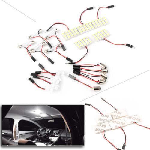 Car LED Interior Light Bulb Lamp Dome Map 5 Festoon T10 BA9S White 15SMD Panel