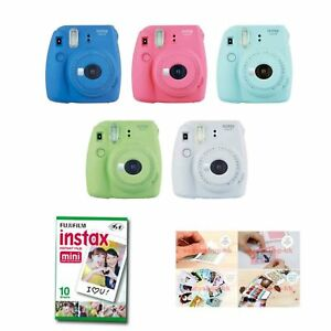Fujifilm-Instax-Mini-9-Instant-Camera-4-Packs-Film-Sticker-Gift-Fuji-40-Photo-8