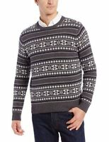 Dockers Men's Cotton Christmas Sweater, Charcoal Heather, Size Medium, W/tag