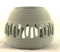 Gray Ceramic Round Oil Warmer Earthbound Trading Modern Tealight Grey Tart