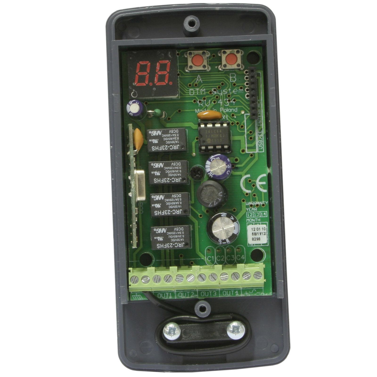 Funkempfänger universal 4-Kanal RV Receiver 433,92 MHz Keeloq Tore