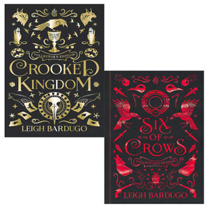 Leigh-Bardugo-Collection-2-Books-Pack-Set-Crooked-Kingdom-Six-of-Crows-New