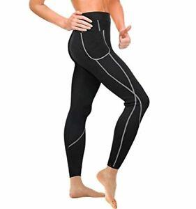 Junlan Pantalon de Sudation Femme Amincissante Sauna Legging Minceur Anti Cellul