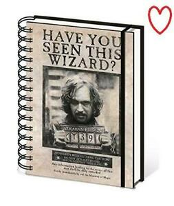 Wanted Sirius Notebook Official Harry Potter Lined A5 Gift