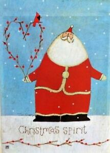 Nature of Christmas Garden Flag by Breeze Art #6420 Santa Christmas Spitit