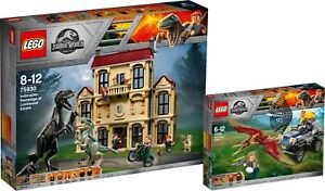 LEGO Jurassic World 75930 75926 Indoraptor-Ver<wbr/>wüstung Pteranodon-Jag<wbr/>d N6/18