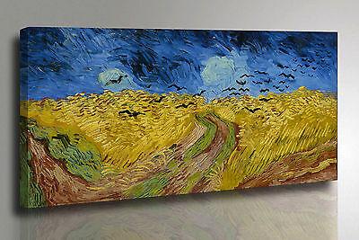 Quadro Van Gogh Campo di Grano e Corvi Stampa su Tela Canvas effetto Dipinto