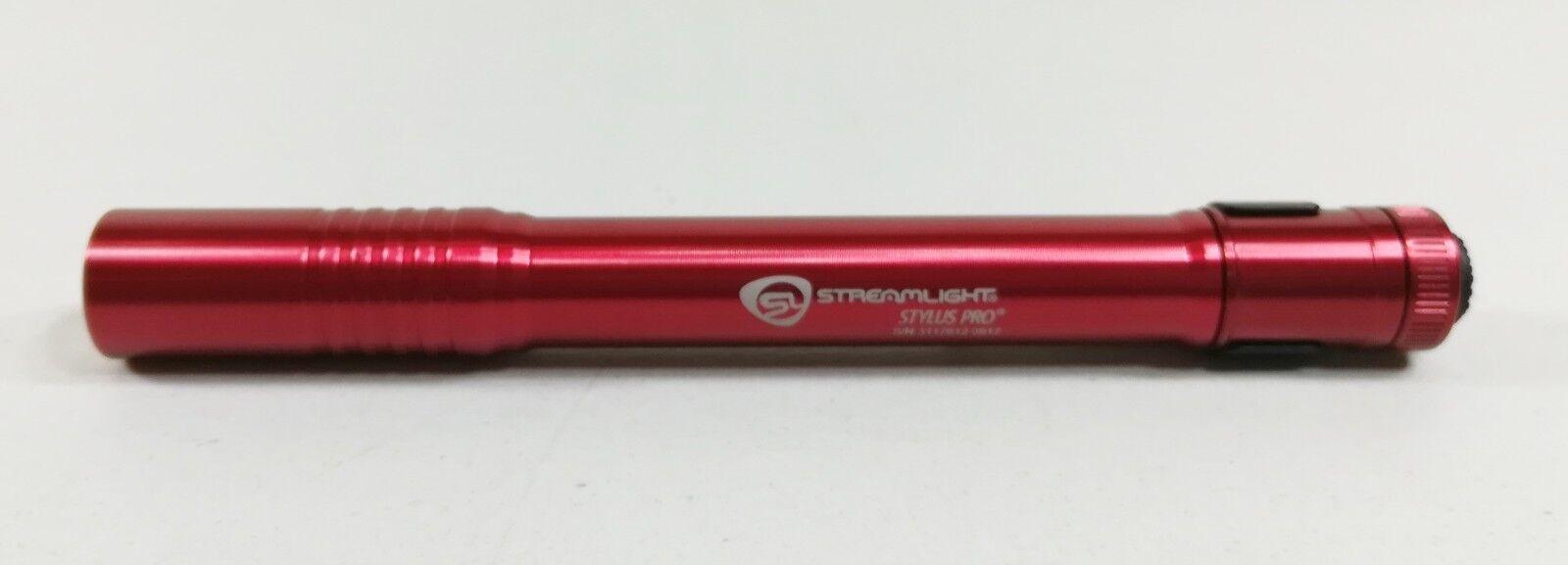 Streamlight 66120 Stylus Pro Flashlight Red for sale online