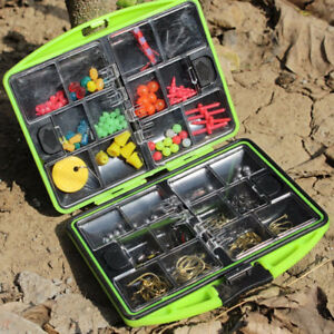 Carp-Fishing-Tackle-Box-Kit-Sinker-Weights-Beads-Hooks-Swivels-Terminal-Tackle