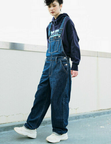 LEVI/'S Premium Denim Baggy Big E Bib Suspender Jeans Overalls Jumpsuit 128$