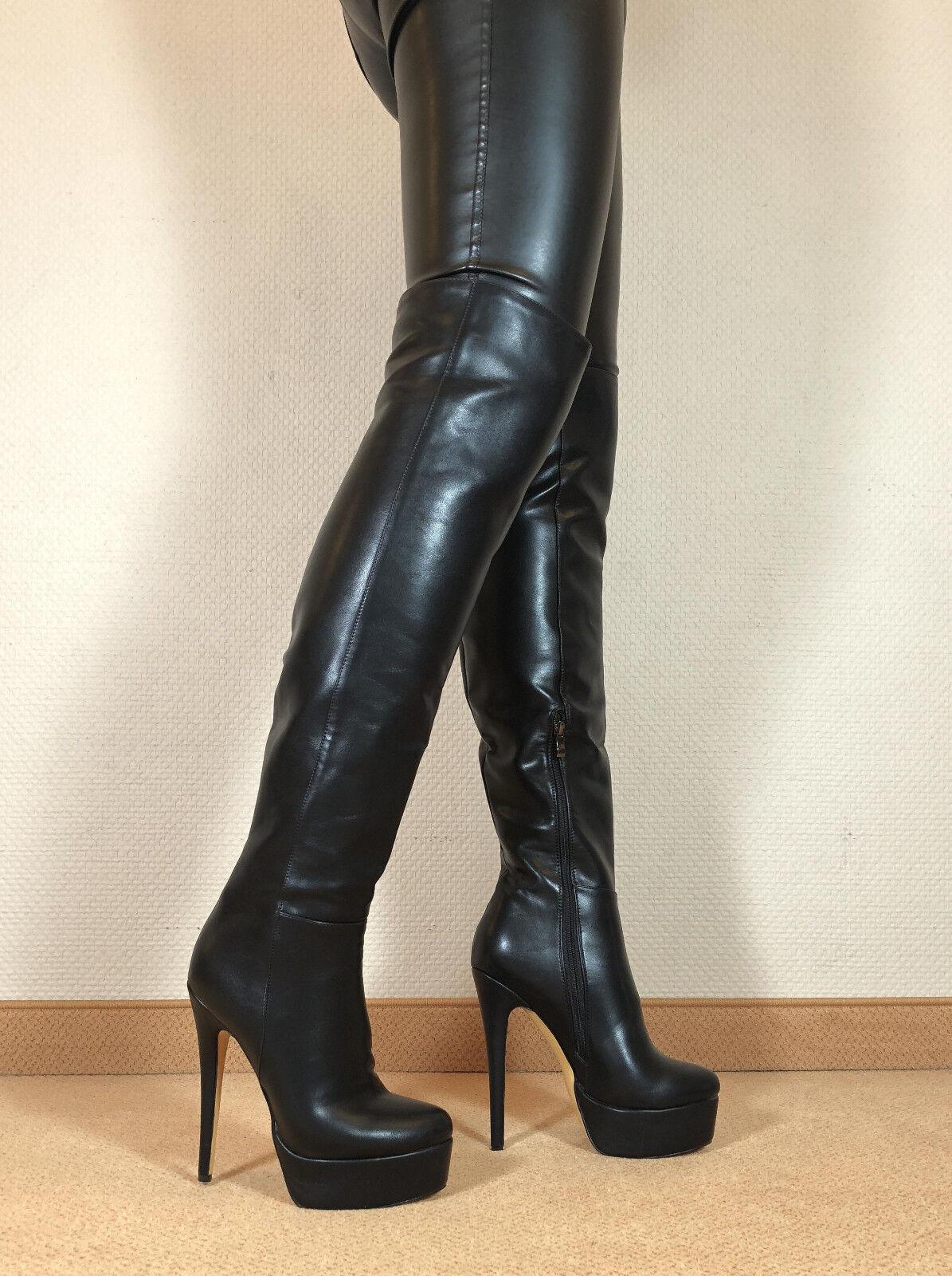 Talla 43 top  en exclusiva sexy sexy sexy zapatos señora botas altas Stiletto botas hombres botas d6 f49efe