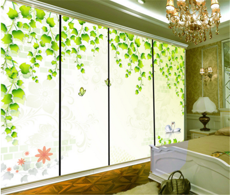 3D Grün Leaf Swan 993 Wallpaper Mural Paper Wall Print Wallpaper Murals UK