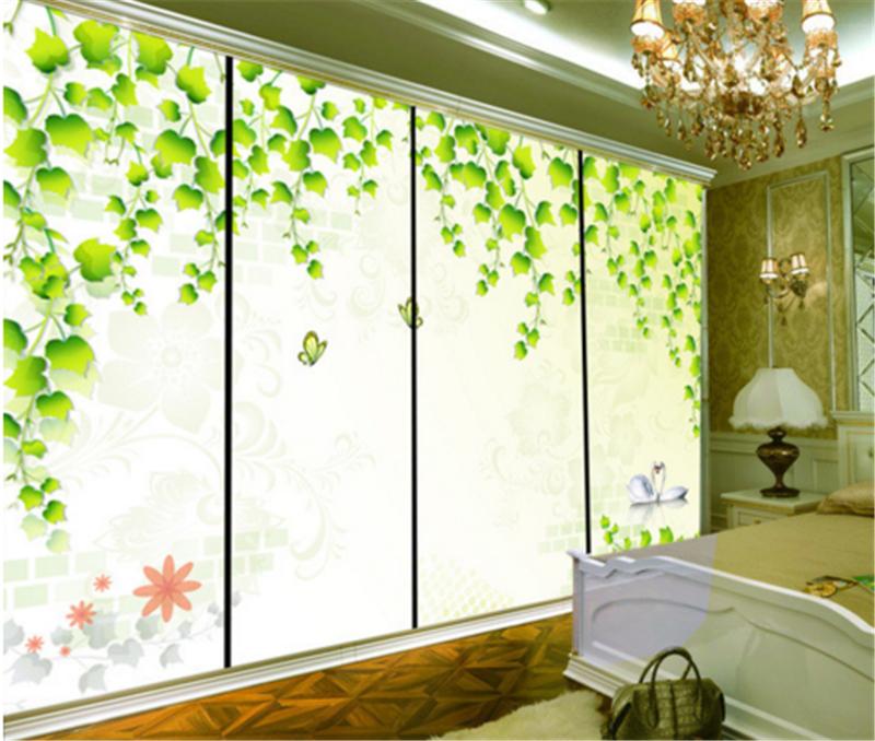 3D Grün Leaf Swan 993 Wallpaper Mural Paper Wall Print Wallpaper Murals UK