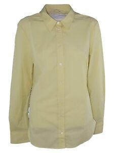the latest f529f f60fb Dettagli su max mara camicia donna giallo cotone manica lunga taglia it 50  xxl extra large