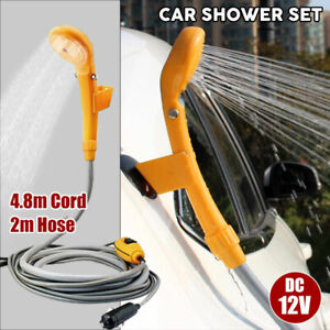 Portable-Automobile-Shower-Set-12V-Water-Pump-Travel-Trip-Camp-Boat-Car-Caravan