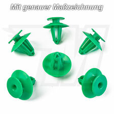 10x Tür Verkleidungsclips Plastik Befestigung Grün für Audi VW | 893867290