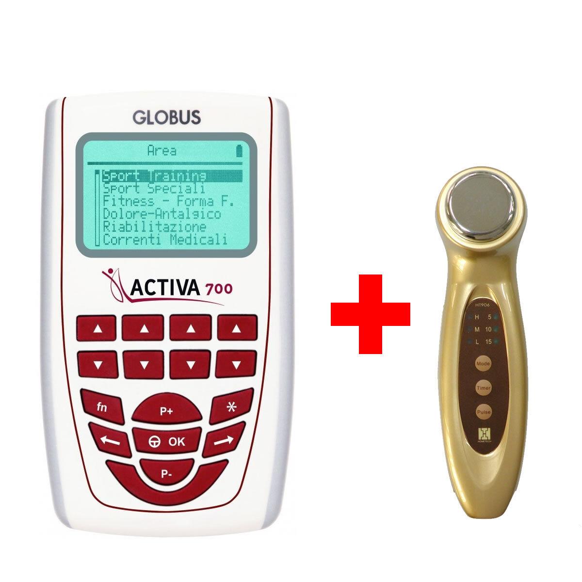 OFFERTA Bundle GLOBUS Elettrostimolatore ACTIVA 700 + LIPOMED Ultrasuono 1 MHz