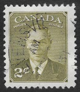 "CANADA 1949 - 1951 King George VI 2c Inscription ""Postes Postage"" (HBX)"