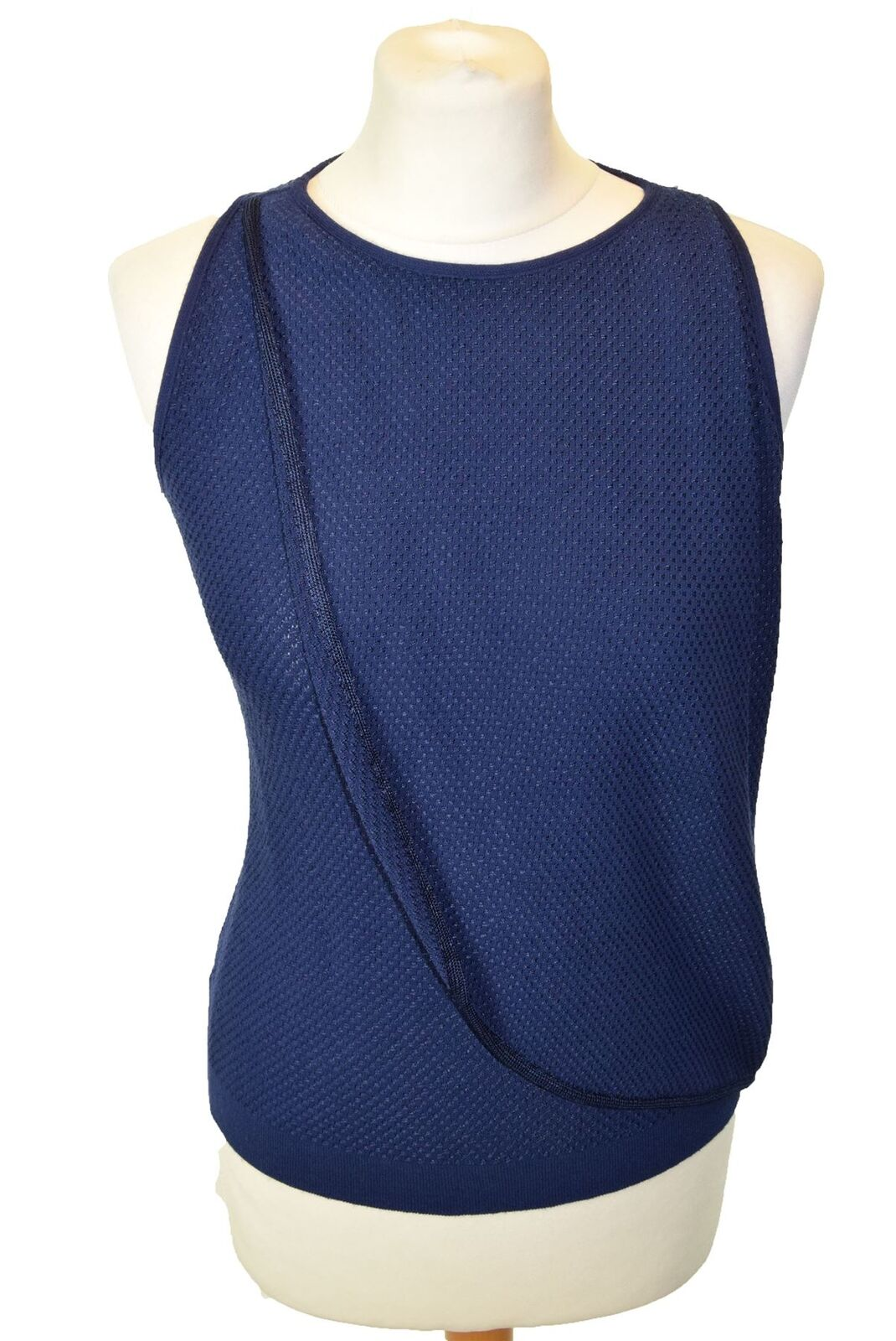 EMPORIO ARMANI bluee Knit Vest Jumper, US 2